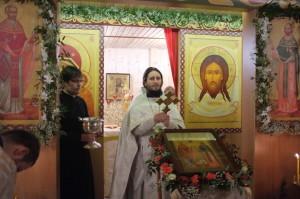 Освящение крестильного храма