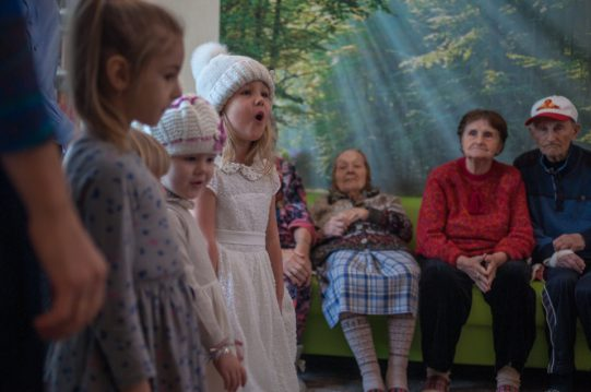 <b>20 января 2019 г. </b> Ученики Воскресной школы посетили подопечных в пансионате для пожилых людей